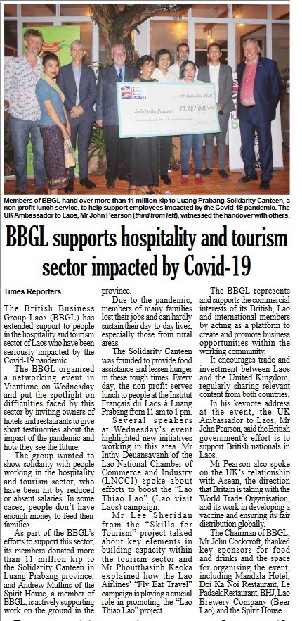 Vientiane Times article